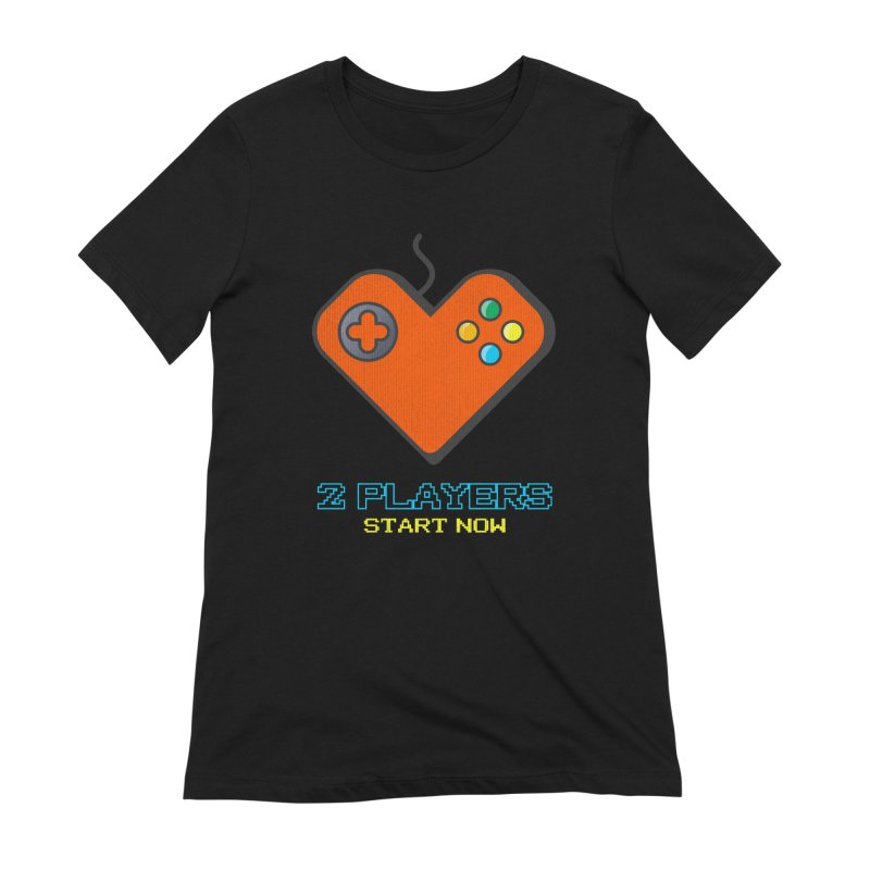 2 players start now matching Gamer Couple Women's Extra Soft T-Shirt by Opippi