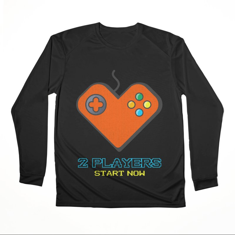 2 players start now matching Gamer Couple Men's Performance Longsleeve T-Shirt by Opippi