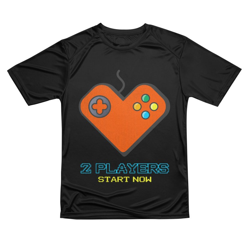 2 players start now matching Gamer Couple Women's Performance Unisex T-Shirt by Opippi