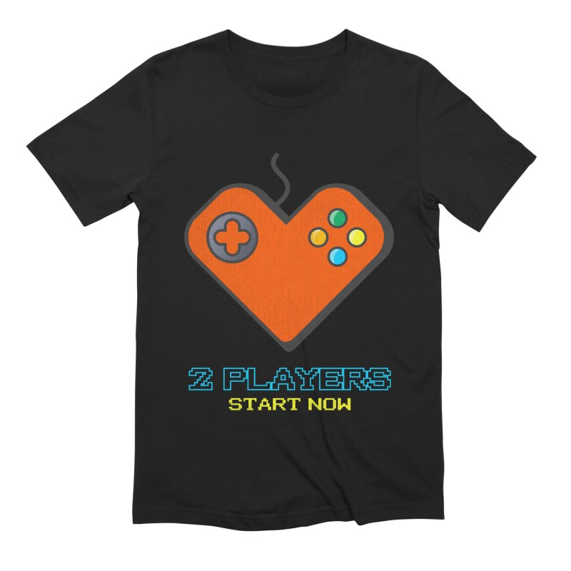 2 players start now matching Gamer Couple Men's Extra Soft T-Shirt by Opippi