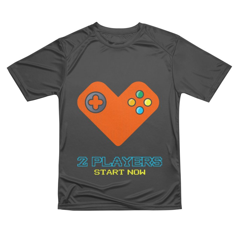 2 players start now matching Gamer Couple Men's Performance T-Shirt by Opippi