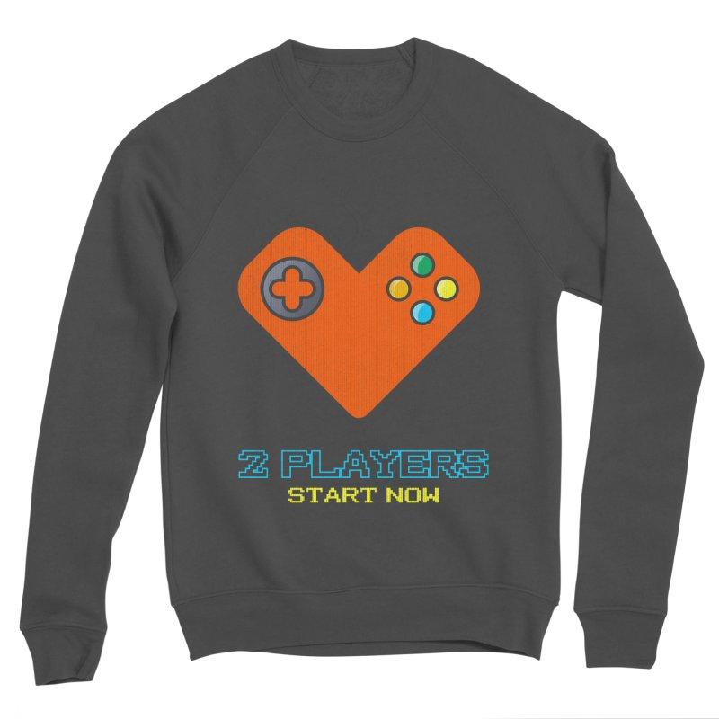 2 players start now matching Gamer Couple Men's Sponge Fleece Sweatshirt by Opippi