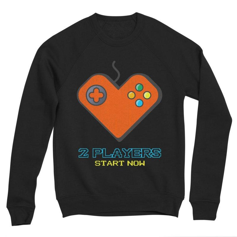 2 players start now matching Gamer Couple Women's Sweatshirt by Opippi