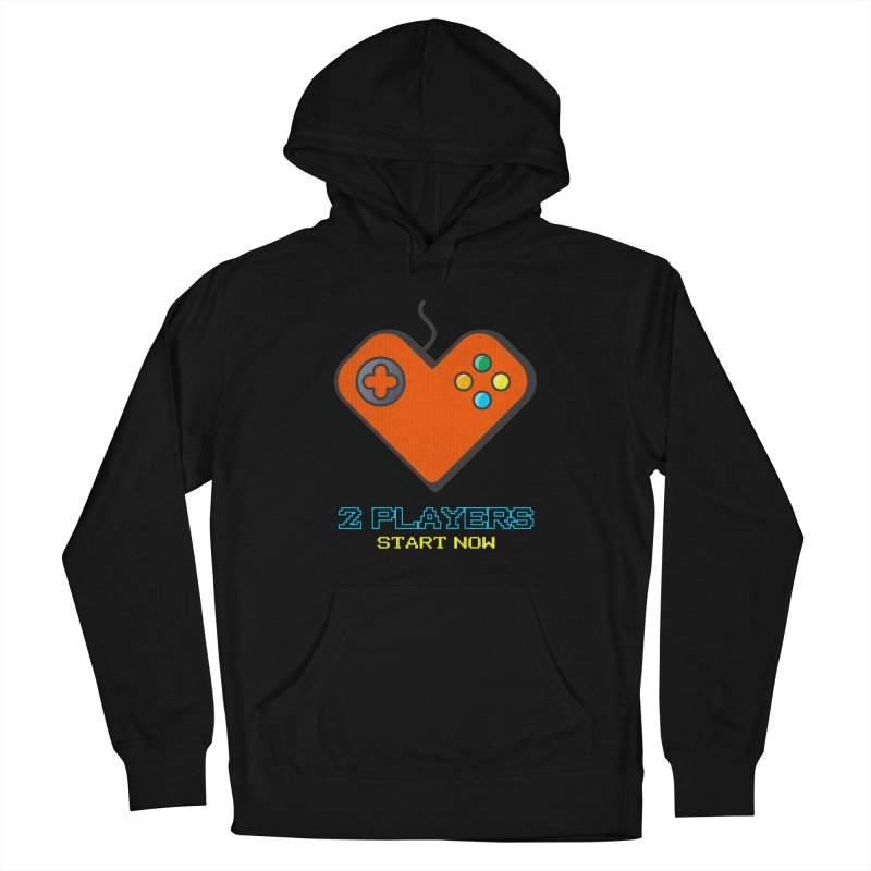 2 players start now matching Gamer Couple Men's French Terry Pullover Hoody by Opippi