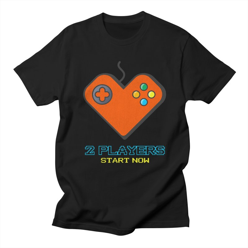 2 players start now matching Gamer Couple Men's Regular T-Shirt by Opippi