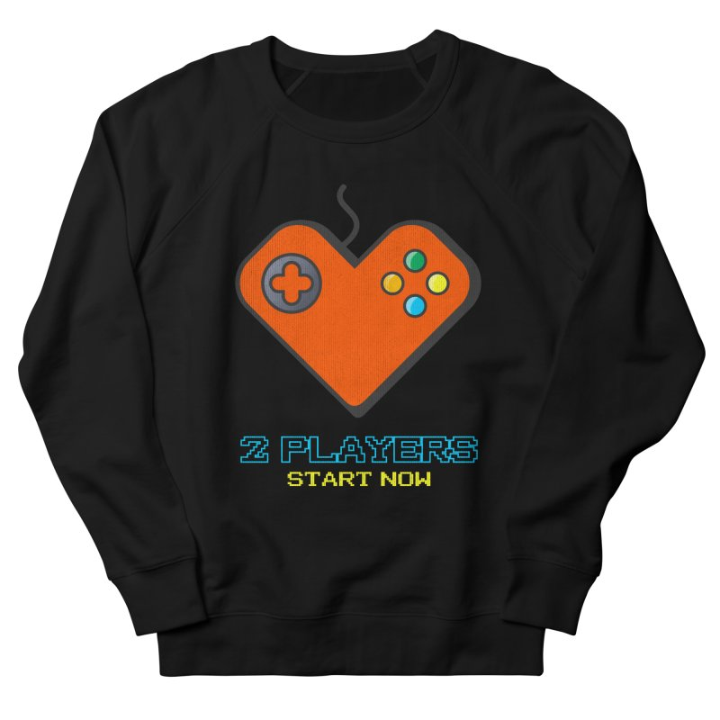 2 players start now matching Gamer Couple Women's French Terry Sweatshirt by Opippi