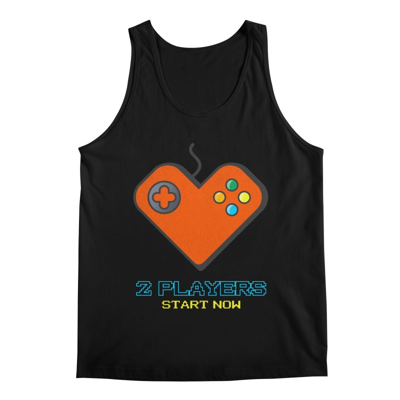 2 players start now matching Gamer Couple Men's Regular Tank by Opippi