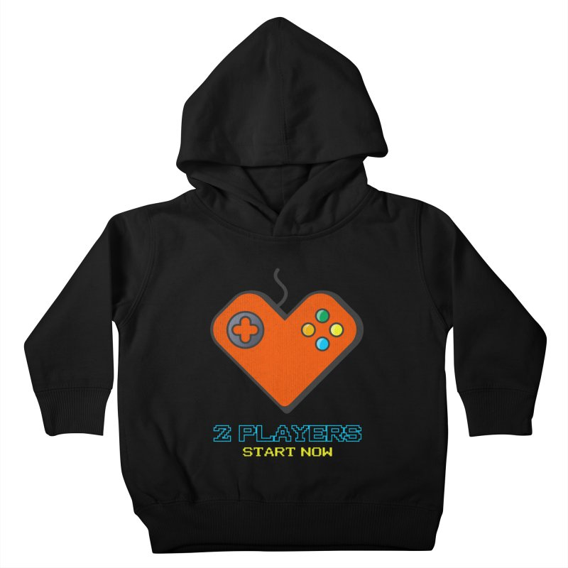 2 players start now matching Gamer Couple Kids Toddler Pullover Hoody by Opippi