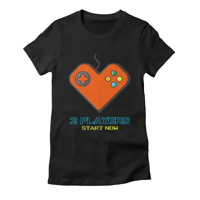 2 players start now matching Gamer Couple Women's T-Shirt by Opippi
