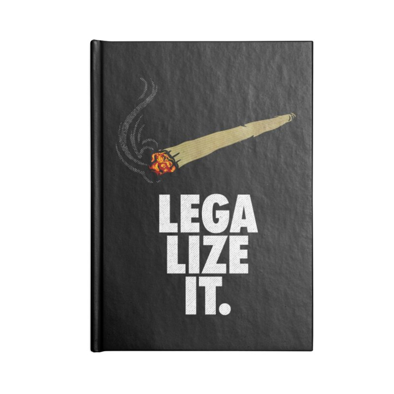 Legalize It Accessories Blank Journal Notebook by Opippi