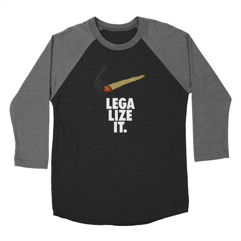 Legalize It Women's Baseball Triblend Longsleeve T-Shirt by Opippi