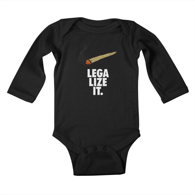 Legalize It Kids Baby Longsleeve Bodysuit by Opippi