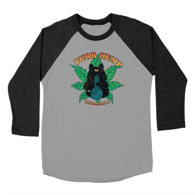 PURR HEMP Men's Baseball Triblend Longsleeve T-Shirt by Opippi