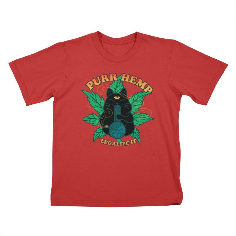 PURR HEMP Kids T-Shirt by Opippi
