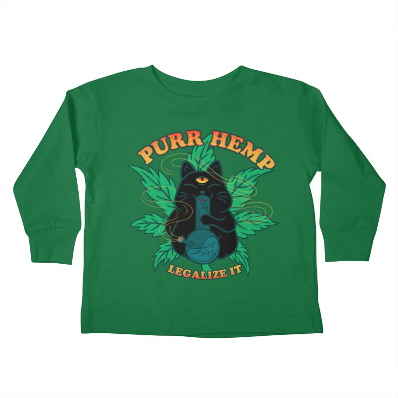 PURR HEMP Kids Toddler Longsleeve T-Shirt by Opippi