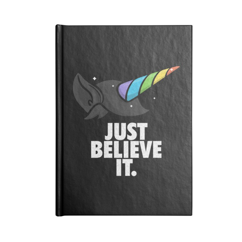 Just Believe it Accessories Blank Journal Notebook by Opippi
