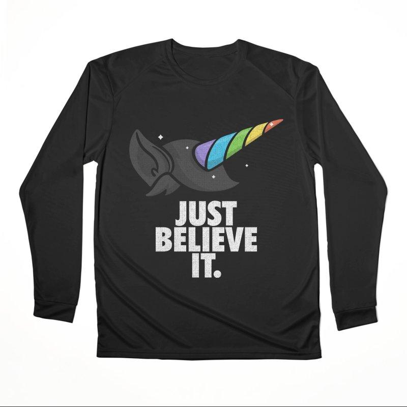 Just Believe it Women's Performance Unisex Longsleeve T-Shirt by Opippi