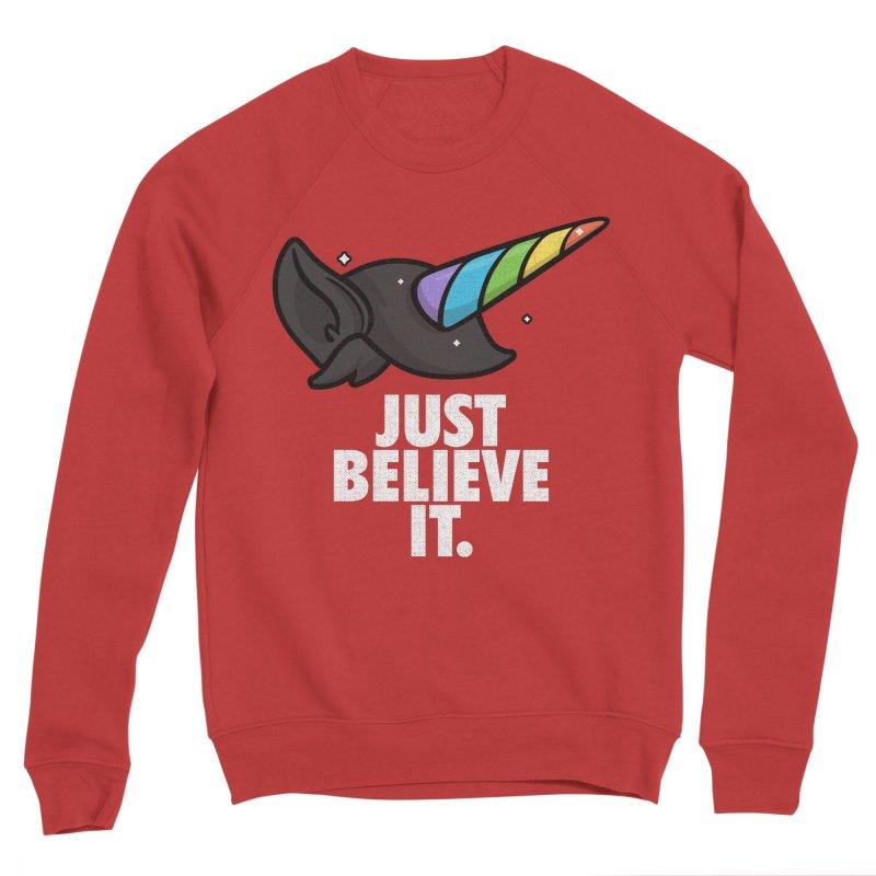 Just Believe it Women's Sponge Fleece Sweatshirt by Opippi