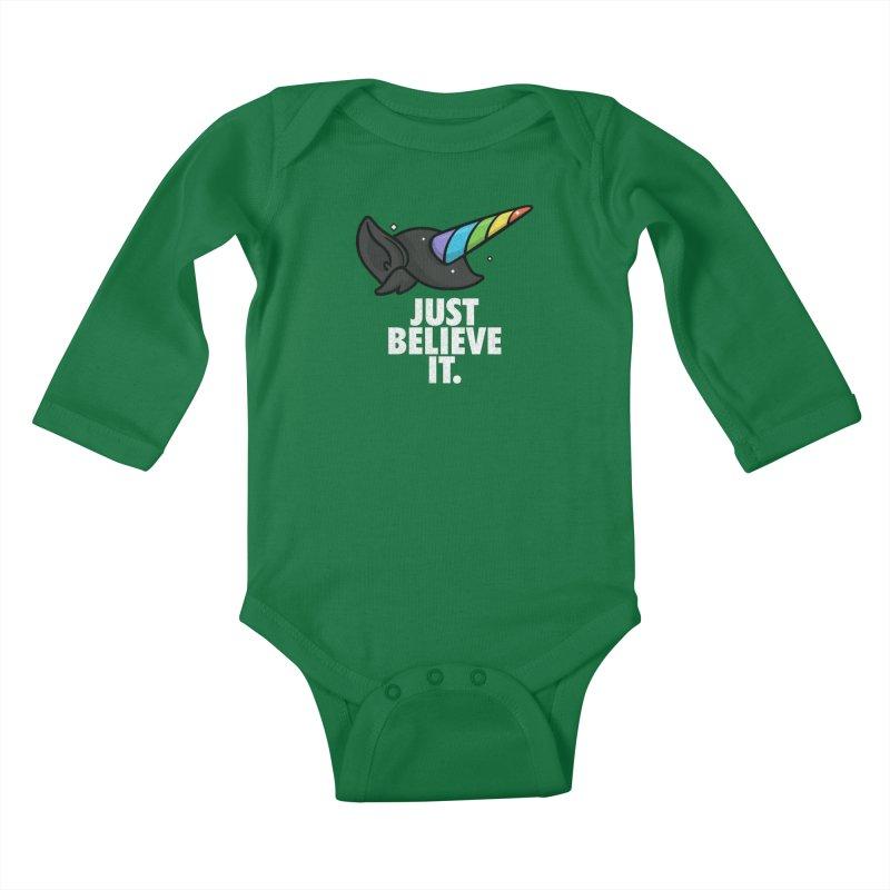 Just Believe it Kids Baby Longsleeve Bodysuit by Opippi
