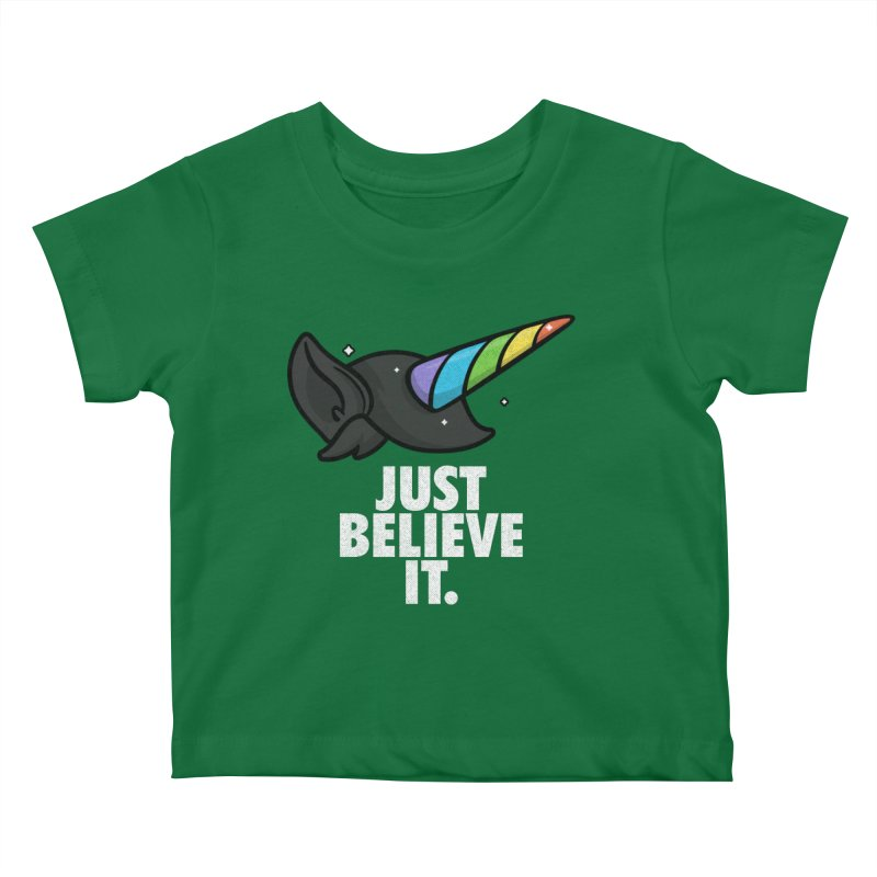 Just Believe it Kids Baby T-Shirt by Opippi