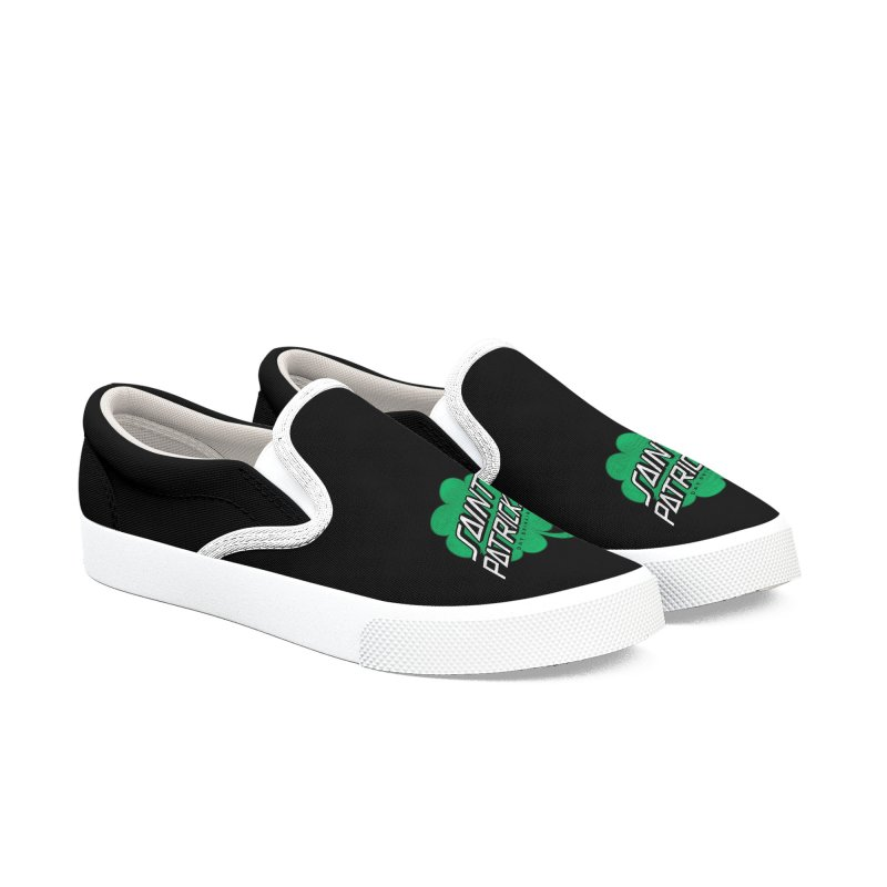 Saint Patrick's Day drinking Men's Slip-On Shoes by Opippi