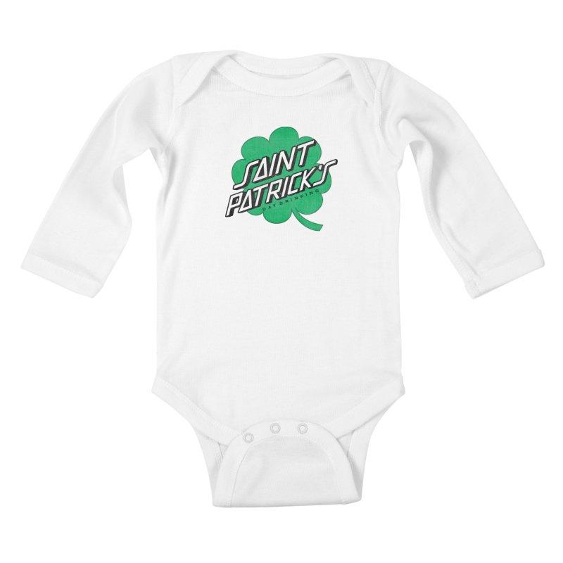 Saint Patrick's Day drinking Kids Baby Longsleeve Bodysuit by Opippi