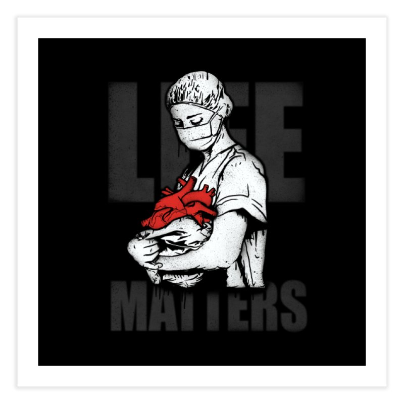 Life Matters Home Fine Art Print by Opippi