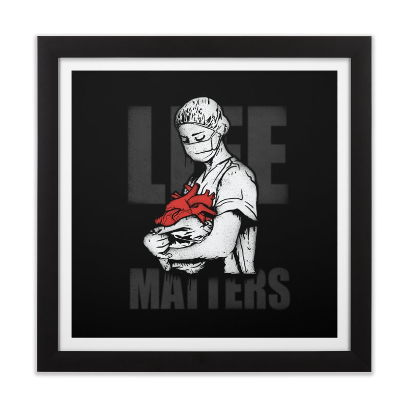 Life Matters Home Framed Fine Art Print by Opippi