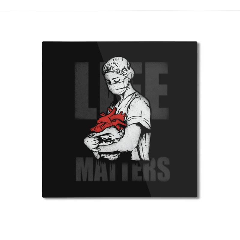 Life Matters Home Mounted Aluminum Print by Opippi