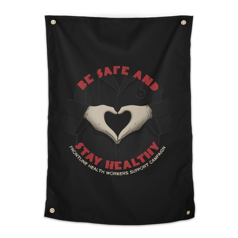 Be safe and stay healthy Home Tapestry by Opippi