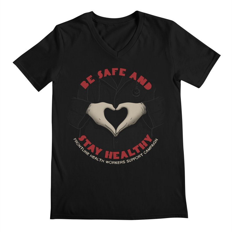 Be safe and stay healthy Men's Regular V-Neck by Opippi