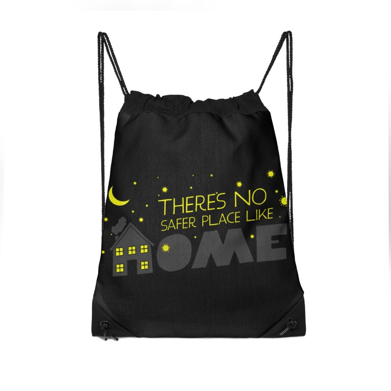 There's no safe place like HOME Accessories Drawstring Bag Bag by Opippi