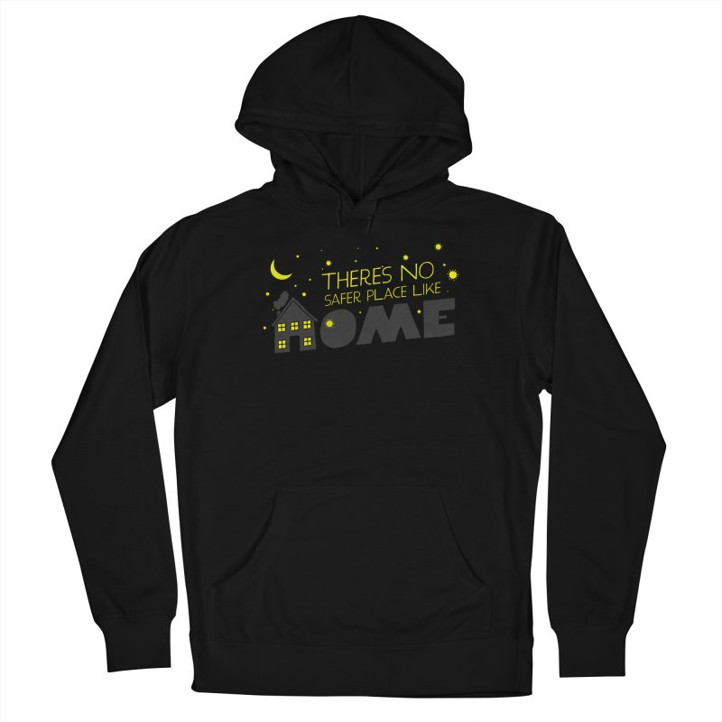 There's no safe place like HOME Men's French Terry Pullover Hoody by Opippi