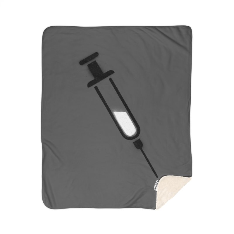 The Vaccine Home Sherpa Blanket Blanket by Opippi