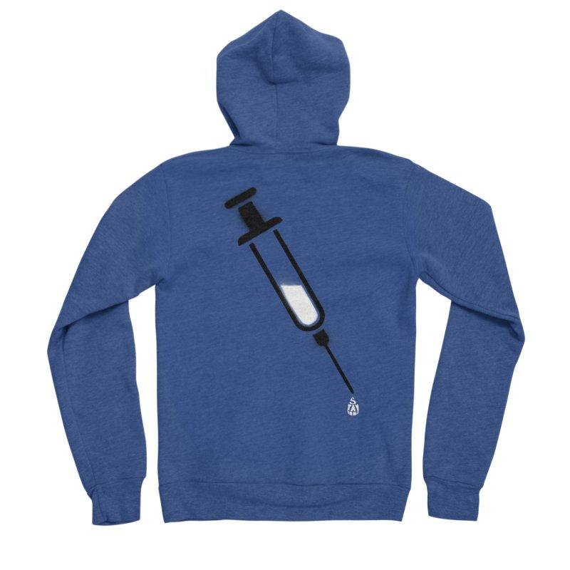 The Vaccine Men's Sponge Fleece Zip-Up Hoody by Opippi
