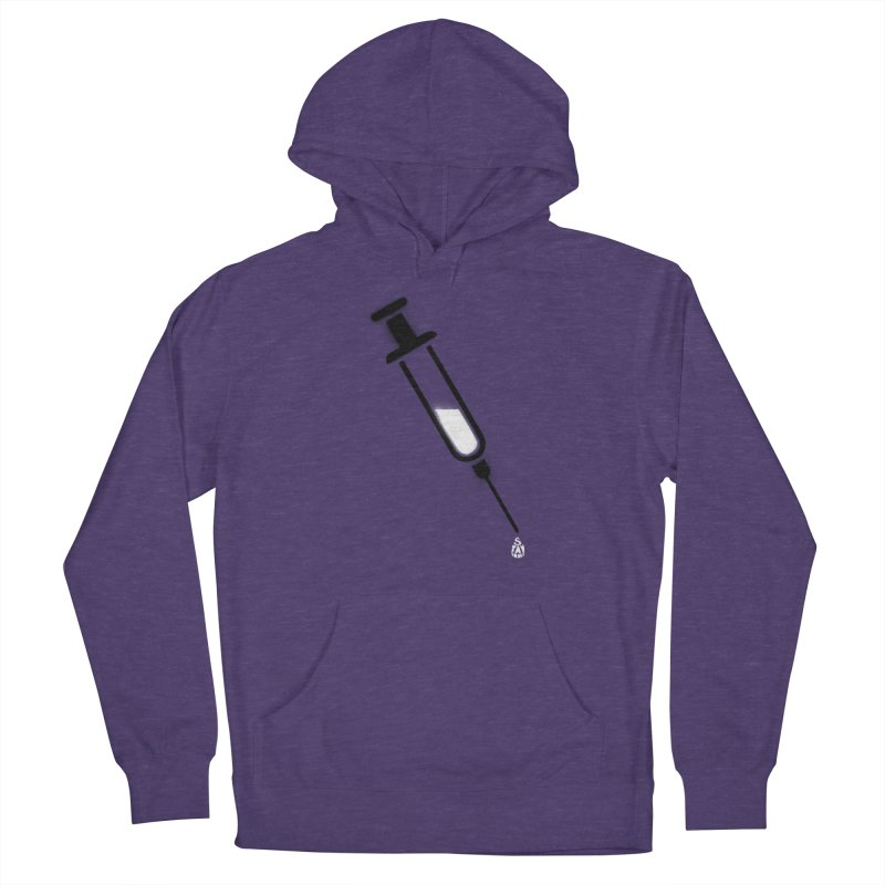 The Vaccine Men's French Terry Pullover Hoody by Opippi