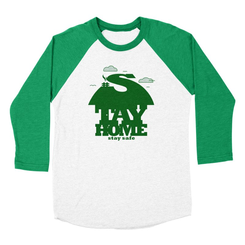 Stay Home Stay Safe Women's Baseball Triblend Longsleeve T-Shirt by Opippi