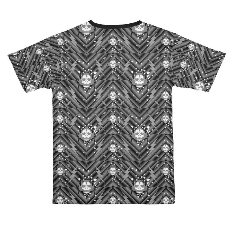 Lightning Skull pattern 2 face mask Men's Cut & Sew by Opippi