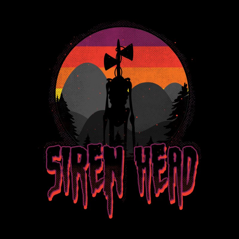 Scary Siren Head vintage sunset meme Women's V-Neck by Opippi