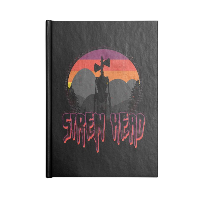 Scary Siren Head vintage sunset meme Accessories Notebook by Opippi