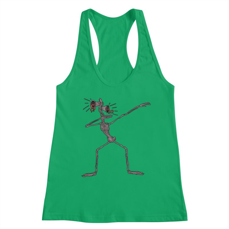 Dabbing Siren Head halloween meme Women's Tank by Opippi