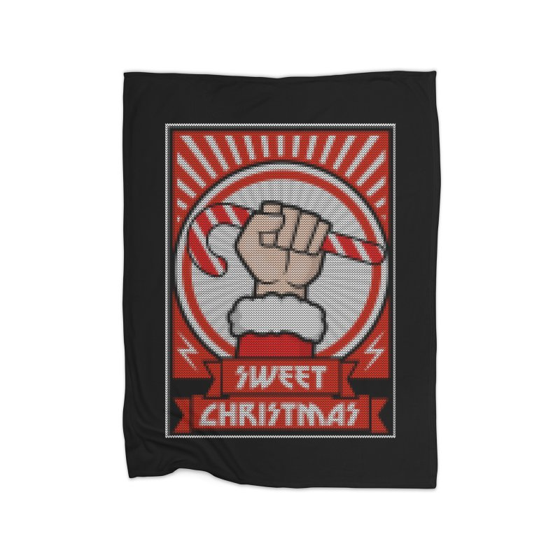 Sweet christmas candy revolution Home Blanket by Opippi