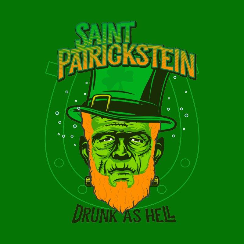 Saint Patrickstein drunk as hell green gifts Women's Longsleeve T-Shirt by Opippi