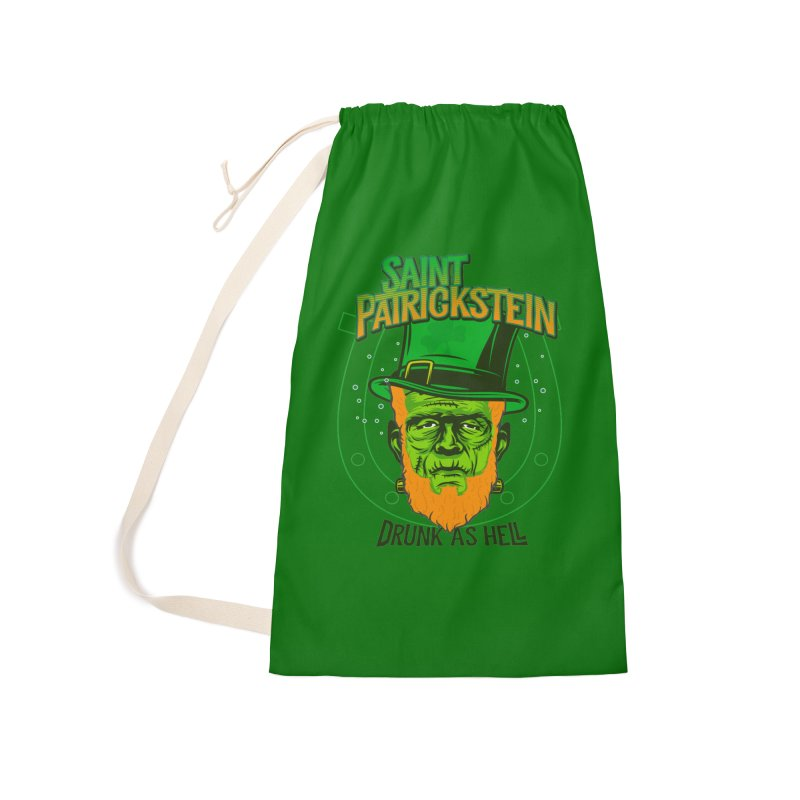 Saint Patrickstein drunk as hell green gifts Accessories Bag by Opippi