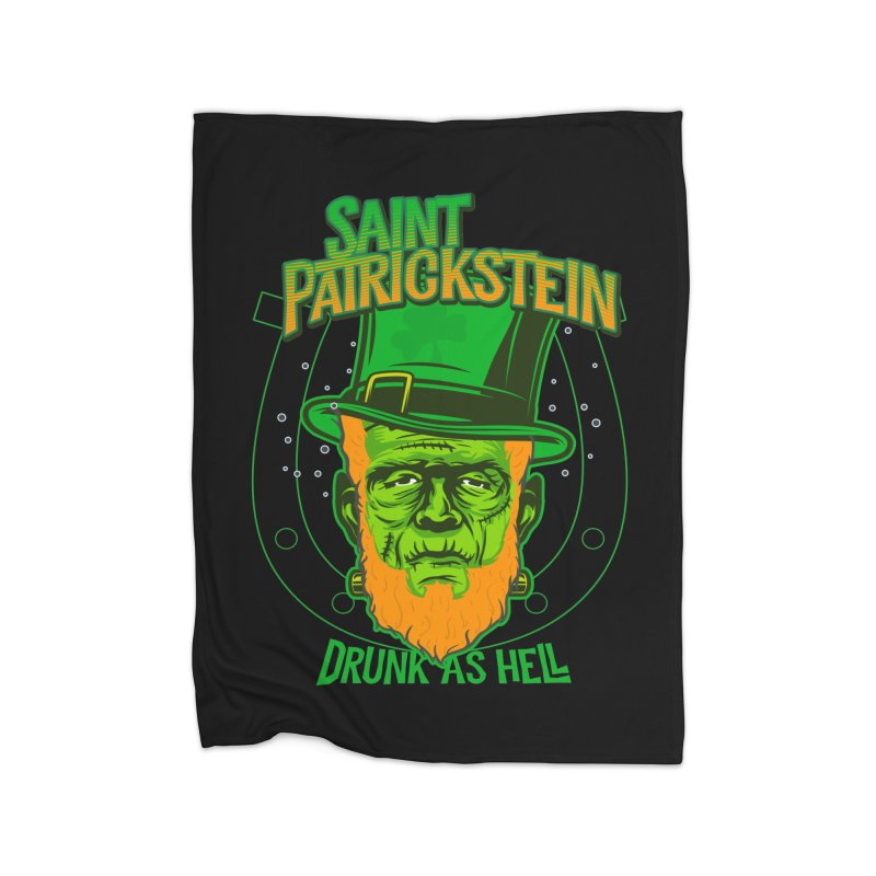 Saint Patrickstein drunk as hell gifts Home Blanket by Opippi