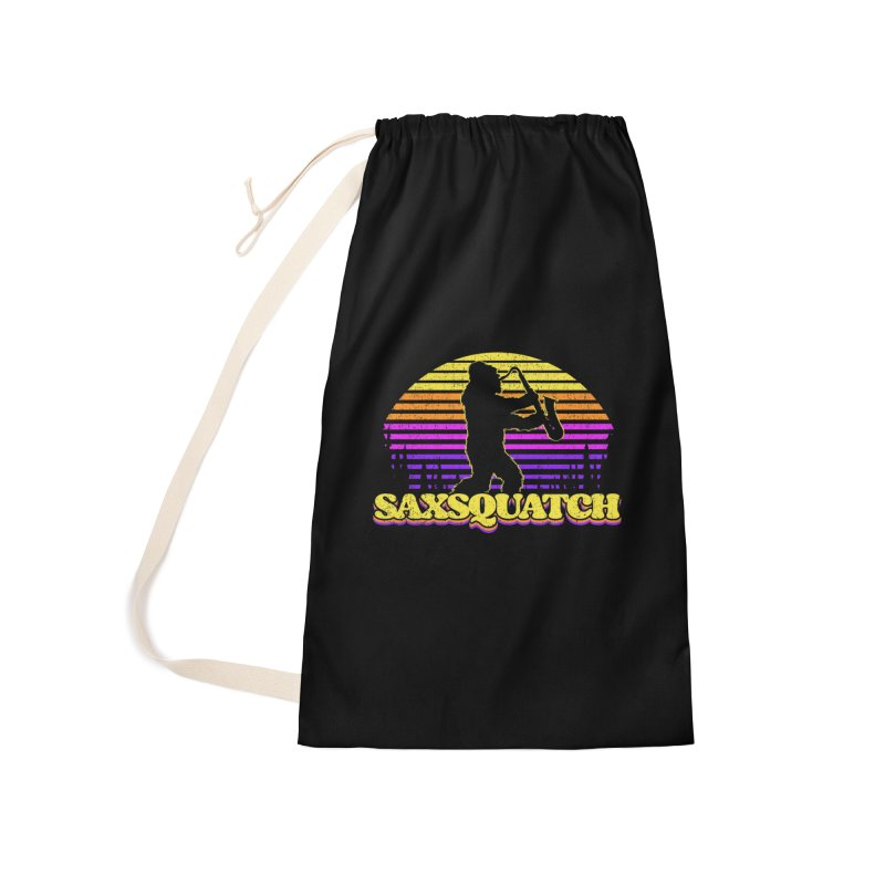 Saxsquatch bigfoot saxophone player Accessories Bag by Opippi