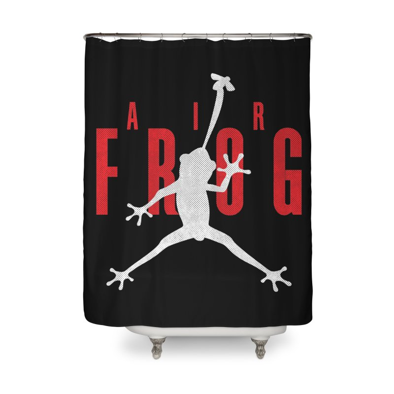 Funny Air Frog I Love Frogs Home Shower Curtain by Opippi