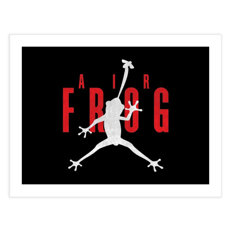Funny Air Frog I Love Frogs Home Fine Art Print by Opippi