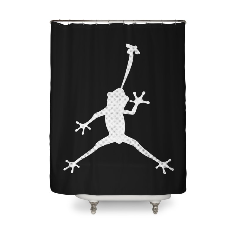 Funny Air Frog parody Home Shower Curtain by Opippi