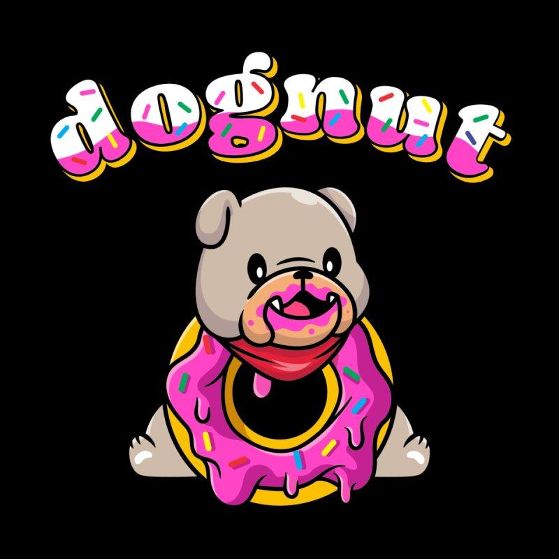 Funny Pun Dognut Bulldog Women's Pullover Hoody by Opippi